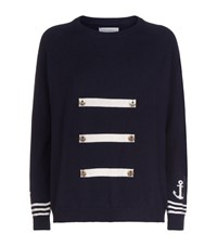 Chinti And Parker Nautical Button Cashmere Sweater Female Multi