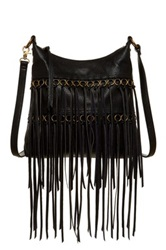 Carlos Santana Julietta Fringe Crossbody Messenger Black