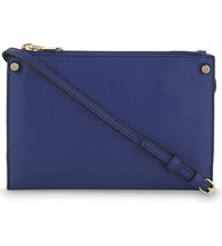 Sandro Bianca Leather Cross Body Bag Indigo