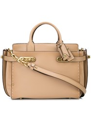Coach Double Swagger Tote Nude And Neutrals