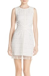 Women's Greylin 'Mina' Fringe Lace Sheath Dress