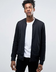 Hugo By Boss Dencore Sweat Bomber Pique And Jersey Black