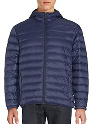 Saks Fifth Avenue Quilted Long Sleeve Jacket Navy