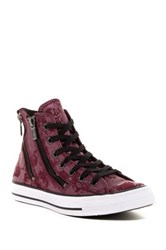 Converse Chuck Taylor R All Star R Dual Zip Genuine Leather High Top Sneaker Women Red