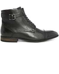 Billtornade Corentin Black Zipped Laced Boots