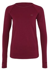 Evenandodd Active Sports Shirt Windsor Wine Dark Red