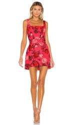 C Meo Collective Variation Mini Dress In Pink. Hot Pink Rose