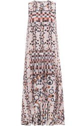 Peter Pilotto Printed Silk Dress Multicolor