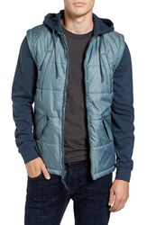 Rvca Men's Quilted Puffer Jacket Midnight