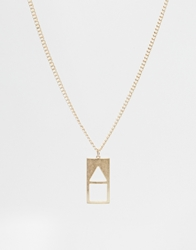 Asos Geometric Necklace Gold