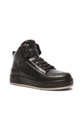 3.1 Phillip Lim Pl31 High Top Calfskin Leather Sneakers In Black