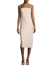Elizabeth And James Sierra Strapless Sheath Dress Nude