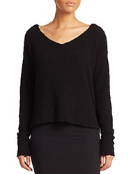 Atm Anthony Thomas Melillo Slouchy Long Sleeve Sweater Black