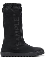 Off White Sample Boots Black