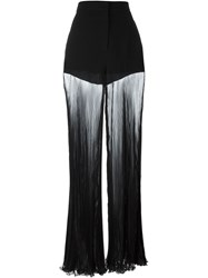 Versace Pleated Sheer Trousers Black