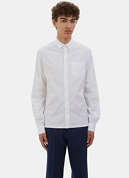 Valentino D Ring Strapped Poplin Shirt White