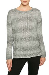 Sanctuary Women's Marled Yarn Sweater Marled Sterling Winter White