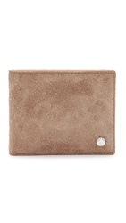 Rag And Bone Hampshire Billfold Wallet Natural Suede