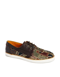 H By Hudson Fisher Woven Derby Shoes Brown