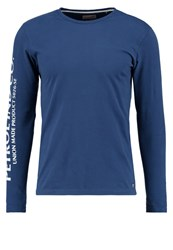 Petrol Industries Long Sleeved Top Blue Dark Blue