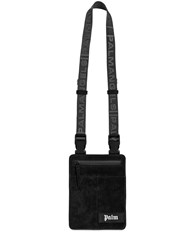 Palm Angels Logo Patch Suede Crossbody Bag Black