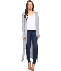 Culture Phit Lynsey Button Up Long Cardigan With Slits Heather Grey Women's Sweater Gray