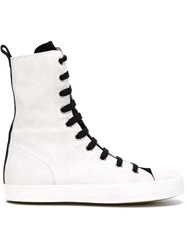 Ann Demeulemeester Lace Up Hi Top Sneakers White