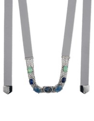 Jenny Packham Chain And Stone Necklace Blue