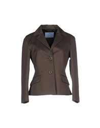 Prada Suits And Jackets Blazers Women Military Green