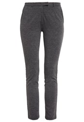 Zalando Essentials Trousers Dark Grey Melange Mottled Dark Grey