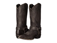 Frye Billy Harness Black Smooth Stonewash Cowboy Boots
