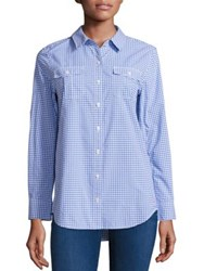 Vineyard Vines Flamingo Gingham Printed Shirt Breaker Blue Flamingo