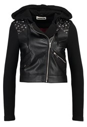 Noisy May Petite Nmtroy Faux Leather Jacket Black