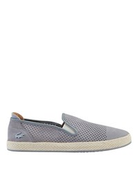 Lacoste Perforated Slip On Shoes Grey