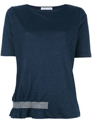 Fabiana Filippi Bottom Stripe T Shirt Blue