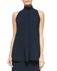 The Row Mock Neck Racerback Blouse