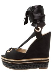 Missguided Wedge Sandals Black