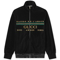 Gucci Chenille Embroidered Track Jacket Black