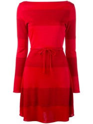 Tommy Hilfiger Panel String Tie Dress Red