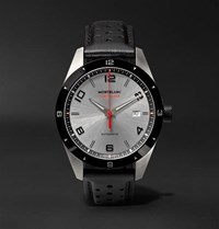 Montblanc Timewalker Date Automatic 41Mm Stainless Steel Ceramic And Leather Watch Gray
