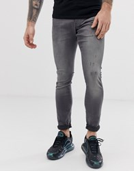 G Star Revend Skinny Fit Jeans In Grey