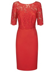 Kaliko Lace Bodice Dress Bright Red