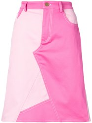 Harvey Faircloth Two Tone Denim Skirt Pink And Purple