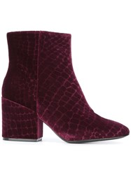 Ash 'Erika' Ankle Boots Pink Purple