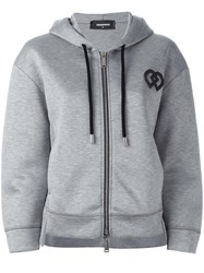 Dsquared2 Dd Detail Hoodie Grey