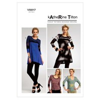 Vogue Katherine Tilton Women's Top And Tunic Sewing Pattern 8817