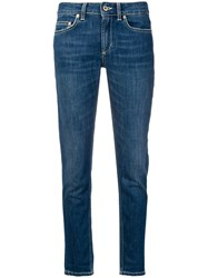 Dondup Cropped Skinny Jeans Blue