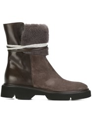 Fabiana Filippi Tie Detail Boots Brown