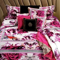 Roberto Cavalli Rose Galuchat Duvet Set Rose Super King