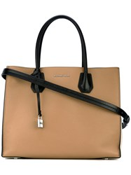 Michael Michael Kors Two Tone Tote Women Calf Leather One Size Nude Neutrals
